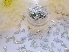 Nail Art Play-boy Design Silver Bunny Holographic Pot Spangle Glitter Decoration