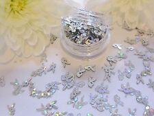Nail Art Play-boy Design Silver Bunny Holographic Pot Spangle Glitter Decoration