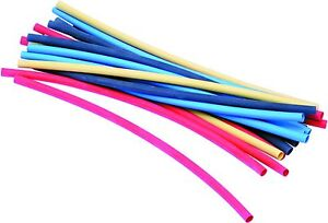 A06100 ASSORTED PACK HEAT SHRINK TUBING MIXED 4.8-9.5 x 200MM