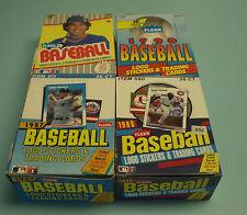 4 UNOPENED FLEER BASEBALL CARD BOXES 1987 1988 1989 1990