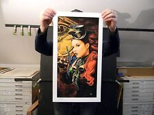 """""""Scarlett"""" by Todo - Steam Punk Limited edition Hand Signed Print"""