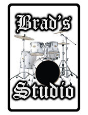 Personalized STUDIO Sign Printed with YOUR NAME Custom Glossy Aluminum Sign.whtd