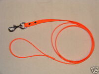 Dog Leash 6 ft. BLAZE ORANGE BIOTHANE HUNTING LEASH