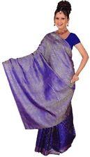 Blu Bollywood Carnevale Sari India Orientale CA110