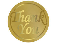 25 Gold Foil Thank you SEALS Labels Stamps Customer Holiday Bags Cards Weddings