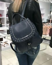 MICHAEL KORS RILEY LARGE BACKPACK LEATHER NAVY