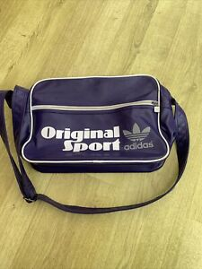 Adidas Originals Purple Messenger Cross Body Bag Size 35x25cm Unisex