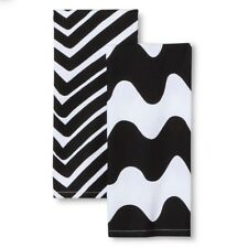 Marimekko for Target Kitchen Towels 2ct Traktori & Lokki Print Black & White