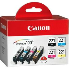 Canon CLI-221 Four-Color Ink Tank Pack - Canon USA Authorized Dealer!