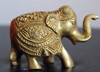 Messing Royal Indischer Elefant schwer handgeschnitzt Ausführung Weihnachten