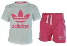 Conjuntos de ropa de manga corta en blanco para niñas de 0 a 24 meses