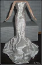 DRESS MATTEL BARBIE DOLL HOLLYWOOD PREMIERE SILKSTONE WHITE MARILYN EVENING GOWN