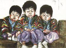 """Postcard  David Choe """"Choe Bros"""" 2000 Unused MINT"""