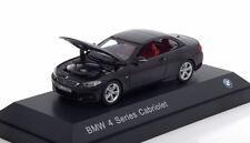 BMW 4ER 3.5I SERIES CABRIOLET 2013 F32 METAL BLACK I-SCALE 80422336866 1/43 NOIR