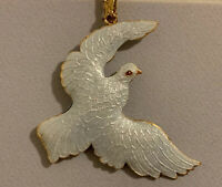 Vintage Peace Dove Ornamental Metal  Christmas Tree Hanging Ornaments