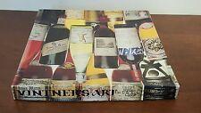 """1981 VINTNER'S ART 18""""x24"""" 551 PIECE VINTAGE WINE BOTTLE PUZZLE COMPLETE"""
