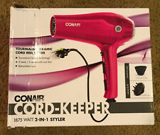 Conair 1875 Watt Cord-Keeper 2-in-1 Styler; Pink