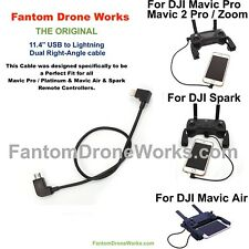 Dji Mavic Pro / 2 Pro / Zoom...Remote Control Cable..Short...Micro USB to Iphone