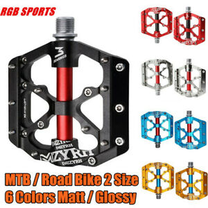"""MZYRH 3 Bearings Mountain Road Bike Pedals Alloy Bicycle Pedals Non-Slip 9/16"""""""