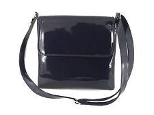 Womens Cool Faux Patent Leather Cross-Body Shoulder Bag Handbag Medium Size