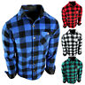 Flannel Plaid Shirt Mens Soft Fuzzy Fleece Stretch Pocket Long Sleeve True Fit