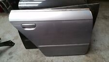 AUDI A4 B7 REAR RIGHT DRIVER SIDE BARE PANEL DOOR IN SILVER LY7H