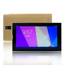 """Gold 7"""" Android 4.4 Dual Core Dual Sim 4GB Tablet PC GSM 3G Call Phone Phablet"""