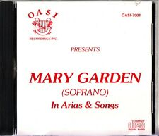 MARY GARDEN (Soprano) In Arias & Songs CD RARE (Debussy/Bizet/Verdi) OASI