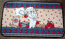 NWT 1998 Pillsbury Doughboy Doughlicious Rug/Mat - Poppin' Fresh & Red Apples