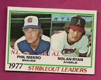 1978 TOPPS # 206 ANGELS NOLAN RYAN LDRS  NRMT-MT  CARD (INV# A7713)