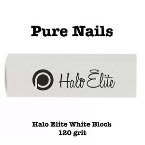 Pure Nails Halo Elite Single White Block 120 Grit