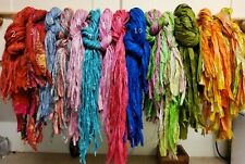 Sari Silk Ribbons taster pack TRIO. Select  3 yards in your choice of colours.