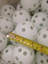 24 x large 7cm white Airflow hollow Plastic tennis Practice floor Balls training