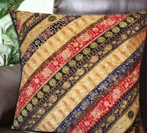"""33% OFF 30"""" RED HANDCRAFTED LARG BOHO SARI ACCENT THROW BED CUSHION PILLOW COVER"""
