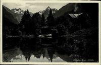 Christies See im Allgäu Bayern s/w Ansichtskarte ~1920/30 See Berge ungelaufen