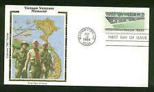 "US FDC #2109 Colorano ""Silk"" Cachet Washington, DC Vietnam Veterans Memorial"