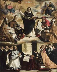Francisco de Zurbaran Apotheosis of St. Thomas Aquinas Giclee Paper Print Poster