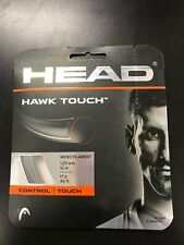 HEAD Hawk Touch Black Colored Poly (Co-Poly) Tennis Racquet String Sets - 17 G