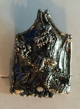 DRAGON RING METAL SILVER PLATED HALLOWEEN PROP