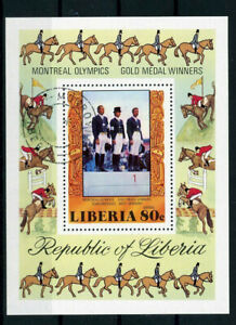 Liberia Block 86 A gestempelt - Montreal Olympics Reiten