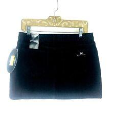 NEW Behnaz Sarafpour Junior Girls Black Denim Jean Mini Skirt with Black Lace 11