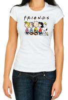 Friends Charlie Brown Snoopy, Women's 3/4 Short Sleeve T-Shirt K1024