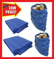 Rubble Sacks Blue Builders Rubbish Waste Heavy Duty Strong Bags Tough Bulk
