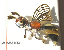 Baby Bee Baltic Amber Pendant on Silver 925
