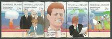 MARSHALL ISLANDS 1988 25TH ANNIVERSARY JFK KENNEDY NUCLEAR TESTING SET MNH