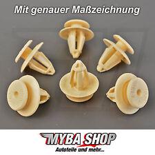 15 x CLIP rivestimento portiera ATTACCAMENTO VW SKODA PORSCHE UNIVERSALE #