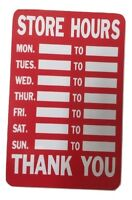 Opening Closing Hours Time Shop Window Door Sign Store Timings Board Card Office