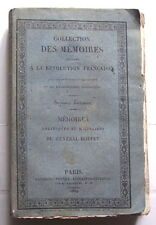Mémoires Politiques et Militaires du Général DOPPET Baudouin 1824 Révolution Fr.