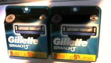 2 Packs Gillette Mach3 Cartridges, Total of 16 Cartridges