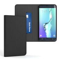 Tasche f. Samsung Galaxy S6 Edge Plus Cover Handy Schutz Hülle Case Etui Schwarz